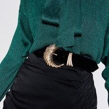 European Vintage Women Belt Fashion Metal Buckle Velvet Belt for Ladies Jeans Dress Clothes Accessor
