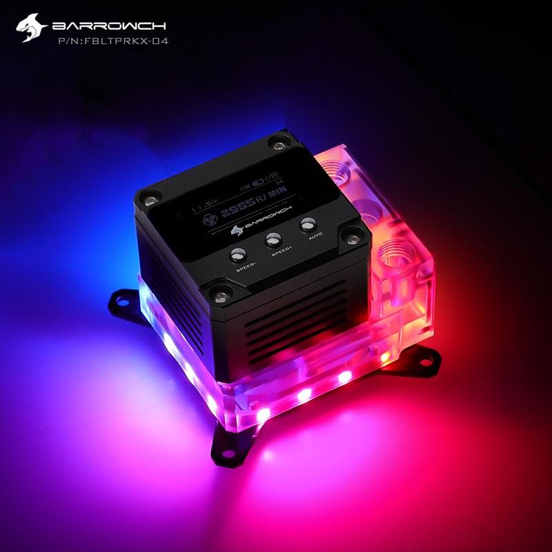 Bloque de agua de CPU BARROWCH + Combo de bomba 5V A-RGB para INTEL,AMD AM3 AM4,X99 X299 17W bomba PWM con FBLTPRK-04 de visualización OLED RPM