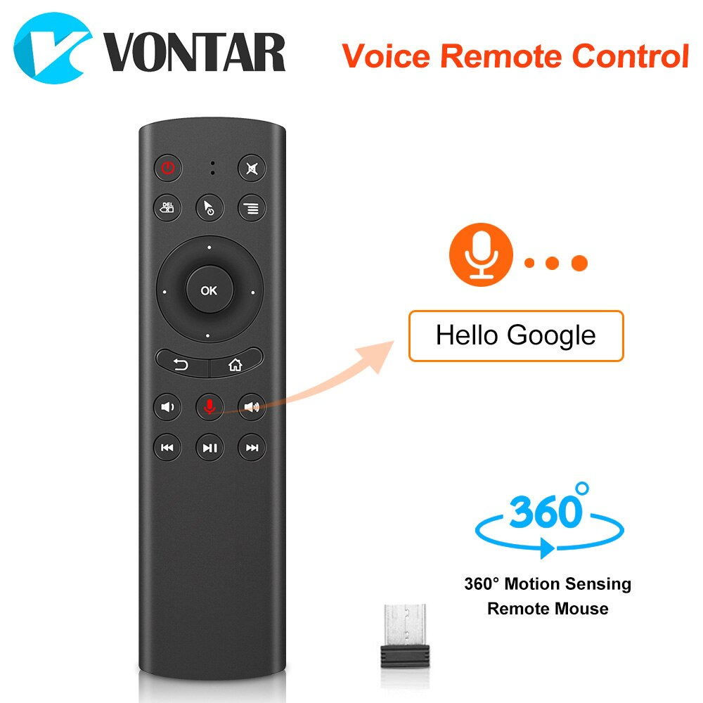 G20S Voice Remote Control 2.4G Wireless Mini Keyboard G20 Air Mouse Microphone for Android TV Box 8.