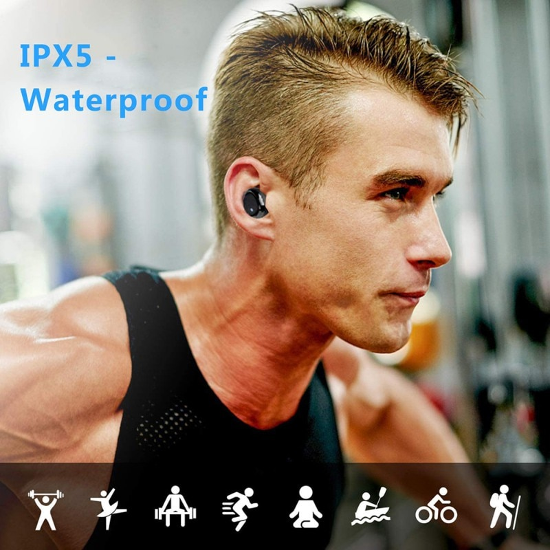 Bluetooth Earphone Fingerprint Touch Wireless Earbuds HD Stereo Noise Cancelling Game Headset For Xiaomi/iPhone/Android enlarge