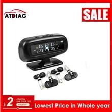 Hot TPMS for Android CAR DVD Car/motorbike Tire Pressure Monitoring System USB Tire Sensors Alarm Monitoring System 4pcs/kit