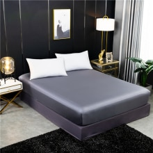 100% mulberry silk Fitted sheet four corners with an elastic band Mattress Cover 160x200cm solid col