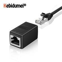 Portable RJ45 hembra a hembra Ethernet LAN Splitter Connector transferencia Head RJ45 CAT 5 5E 6 6a Extender Cable de red