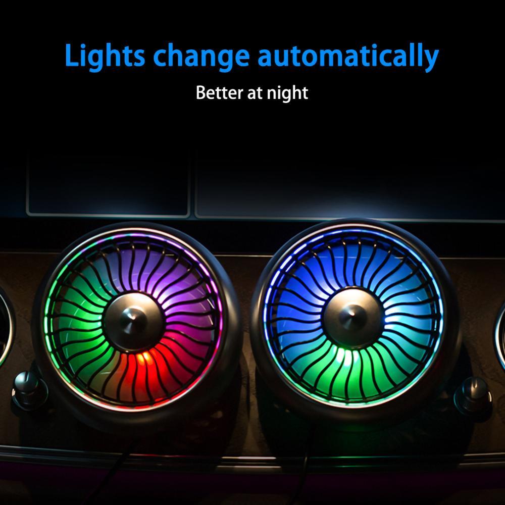 3,5 дюймовый автомобильный вентилятор с красочным окружающим светодиодный светильник 12V24V универсальный большой ветер три скорости управле...