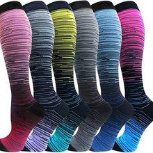Compression Stockings Golfs Football Socks Long Tube Outdoor Sports Bright Color Medical Nursing Hik