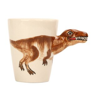 3D Stereo Dinosaur Coffee Cup Hand Painted Ceramic Animal tea mugs  cups and mugs  coffee mugs creative Child gift