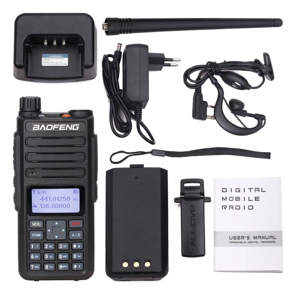 Baofeng DM-860 digital walkie talkie dmr tier1 tier2 tier ii duplo tempo slot rádio digital compatível com motorola DM-1801
