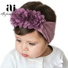 Diademas grandes para niña, cintas elásticas florales para el pelo, accesorios para el cabello para bebé, Diadema con lazo 3D de flores para niño pequeño