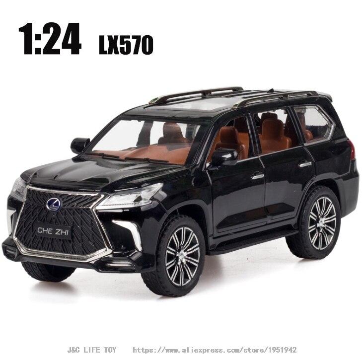124 zabawka samochód doskonała jakość LX570 SUV metalowy samochód zabawka stop samochód Diecasts i pojazdy zabawkowe zabawki modele samochodów dla dzieci
