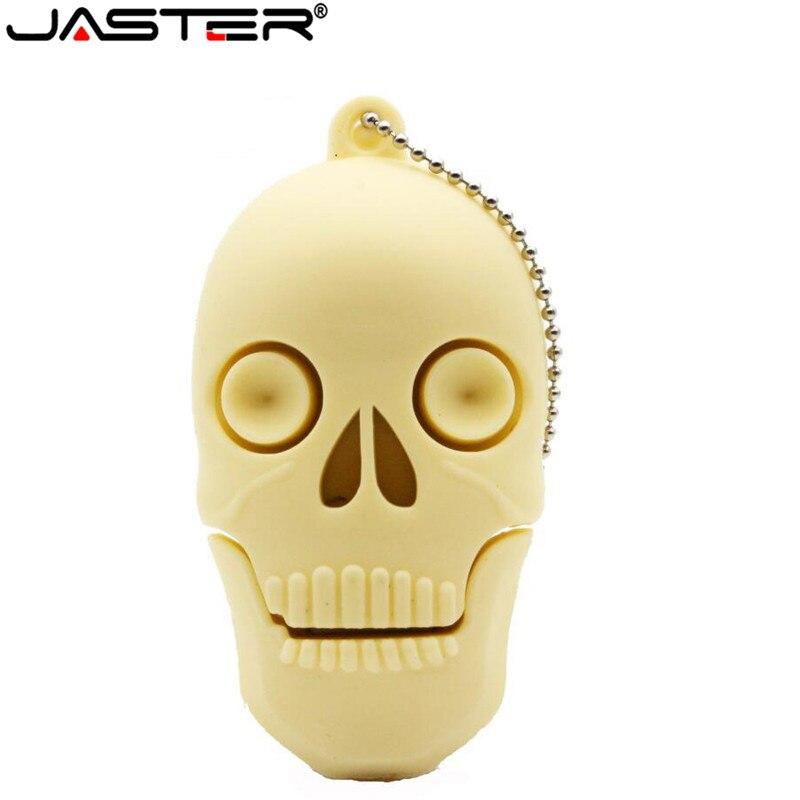 JASTER calavera Cool la cabeza de la muerte fantasma USB Flash drive Real GB 16GB 32GB 64GB zombis memoria stick U disco