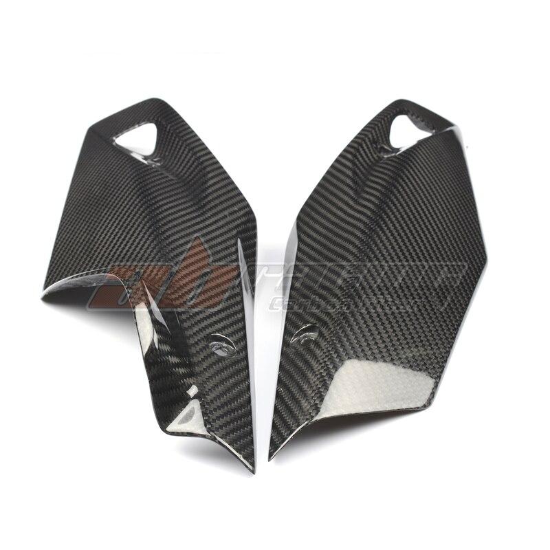 Cubierta de cubierta del Panel del vientre de aceite inferior para BMW R1200R R1200RS 2015-2018, totalmente de fibra de carbono, Sarga de 100%