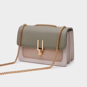 Women's Bag New 2021 Crossbody Shoulder Bag Female Korean Version Ladies Casual Chain Bag Fashion Lock Small Square Bag
