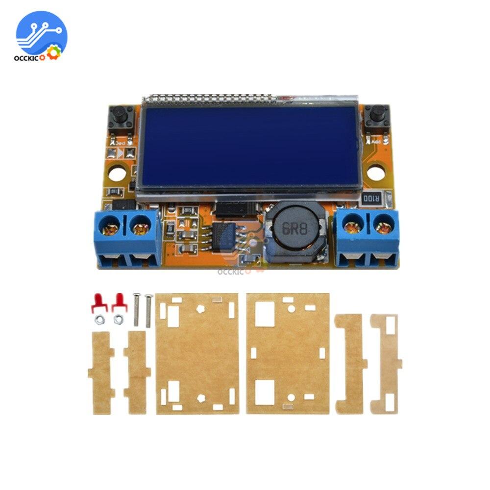 DC-DC Einstellbare Schritt-down Power Supply Module Spannung Strom LCD Flüssigkeit Kristall Displays 5-32V 3A Mit acryl Fall