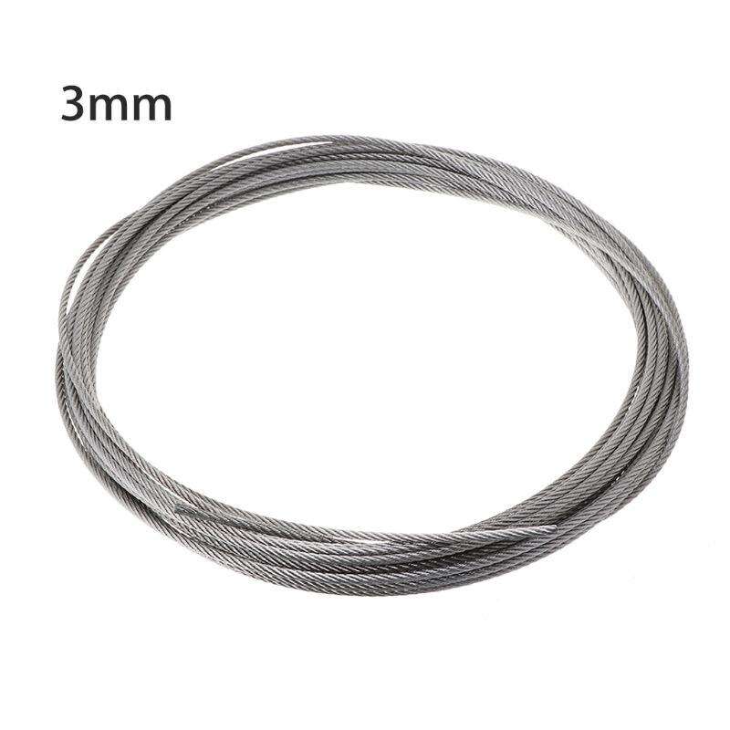 Новинка 10 м 304 нержавеющая сталь проволока веревка мягкая рыбалка подъем трос 7% C3% 977 веревка B95A