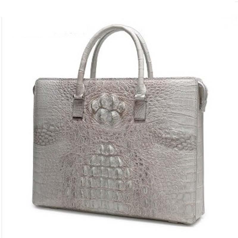 weitasi Crocodile leather men's handbag password lock bag fashion large-capacity package men's bags male crocodile handbag
