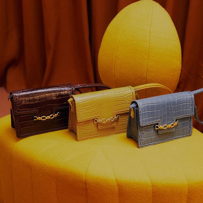 LAFESTIN handbags shoulder bag fashion 2020 new crocodile leather bags Shoulder messenger bag