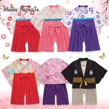 Kinder Japanischen Kimono Stil Baby Mädchen Jungen 5 Arten kleinkind Infant Baumwolle Kimono Jungen Overall Kleidung Kostüm