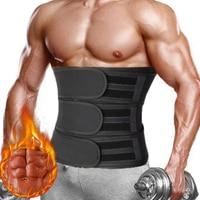 Мужской тренировочный пояс для талии, триммер, пояс для тренировок, корсет для похудения, боди-шейпер, сжигание жира, ремни для похудения