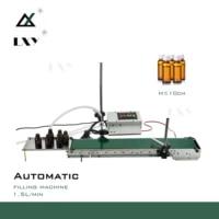 small automatic conveying liquid filling machine automatic conveyor belt single head liquid filling can sense high precision