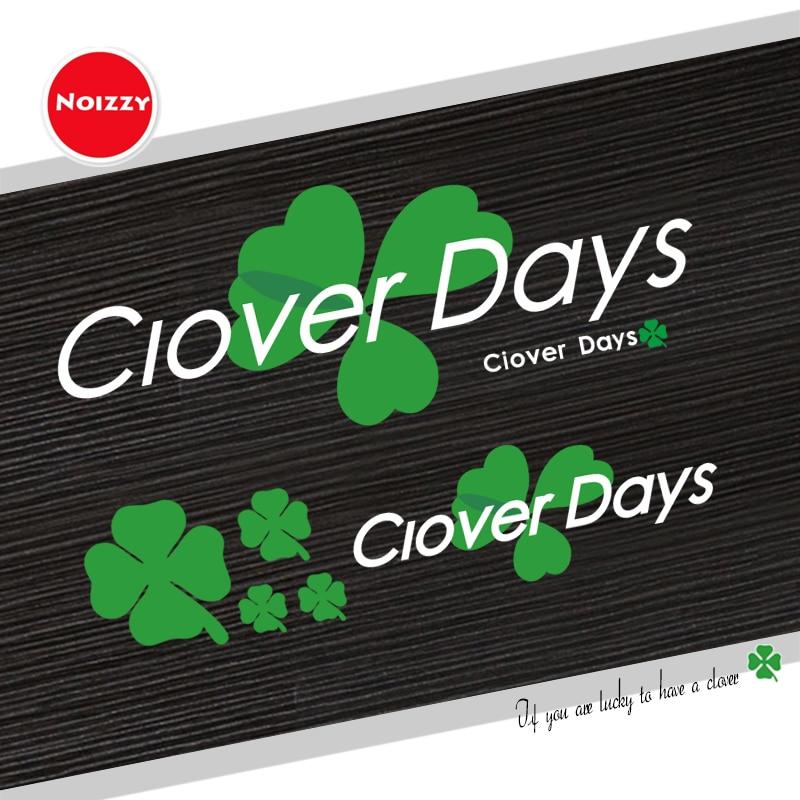 Noizzy Green Clover Days Vinyl Car Sticker Auto Decal Cup Ipad Reflectiv Door Window Laptop Phone Bumper Accessories Car Styling
