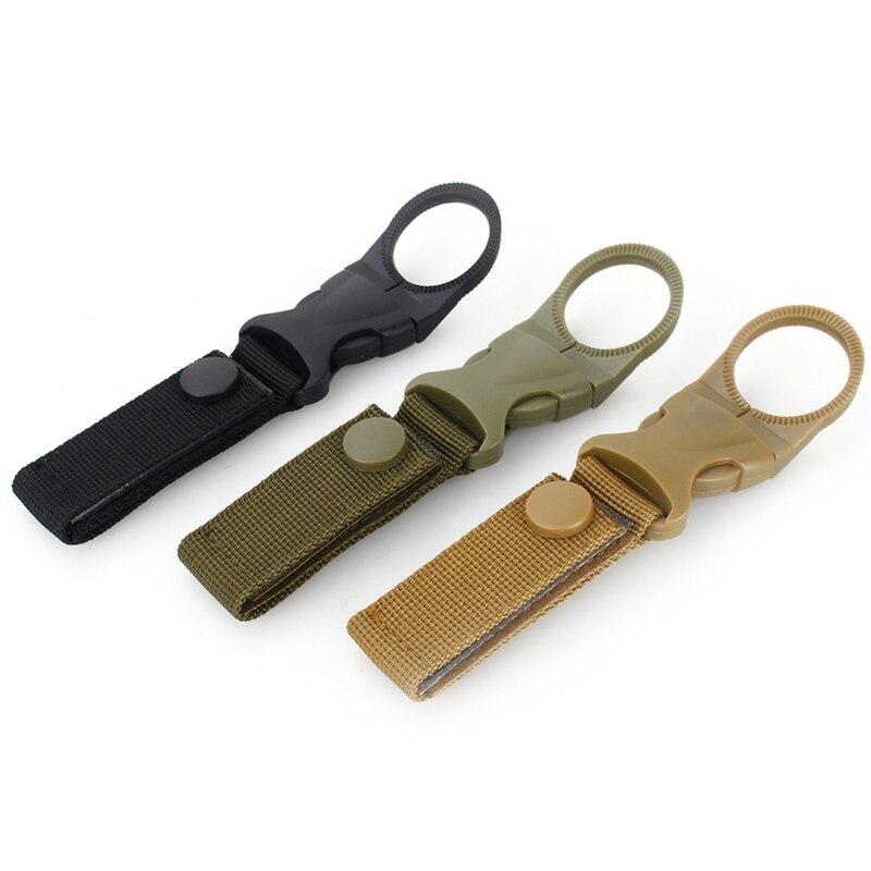 Outdoor Tactical Nylon Webbing Buckle Hook Water Bottle Holder Clip EDC Climb Carabiner Belt Backpack Hanger Outdoor Multi Tool  - buy with discount