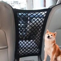 pet isolation net car rear seat cover oxford cloth safety net flexible and convenient storage makes driving safer