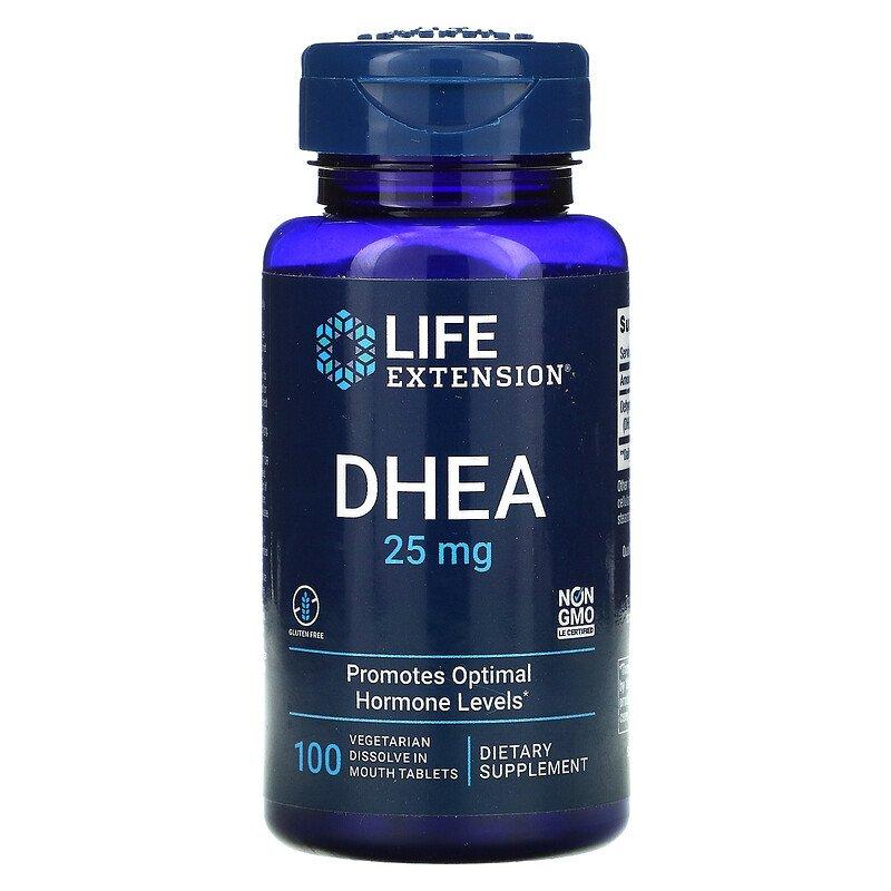 Níveis de Hormona Vida Extensão Dhea 100 Cápsulas Dehydroepiandrosterone Promove Ótimos Frete Grátis 25 mg