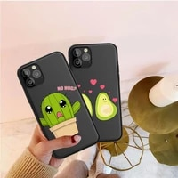 luxury cartoon cute fruit avocado soft silicone phone case for coque iphone 12 11 pro max 8 7 6 6s plus x xs max 5 5s se xr case