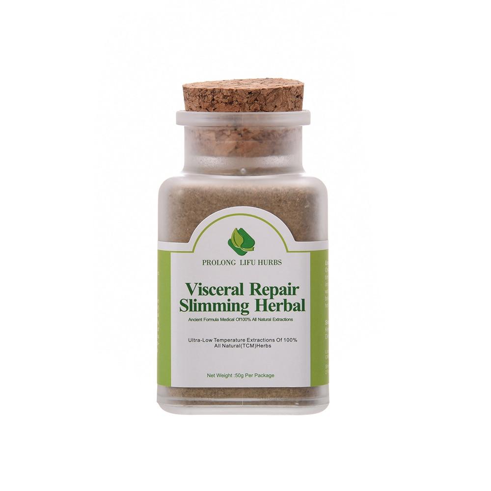 Prolong Lifu Visceral Repair Slimming Herbal Slim Formula Weight Loss Burning Fat Powder 50 grams per Bottle.