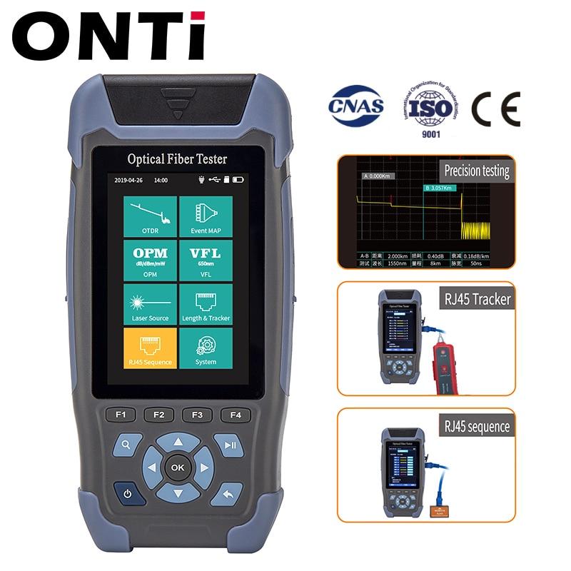 Pro mini OTDR Fiber Optic Reflectometer 980rev with 9 Functions VFL OLS OPM Event Map 24dB for 64km Fiber Cable Ethernet Tester enlarge