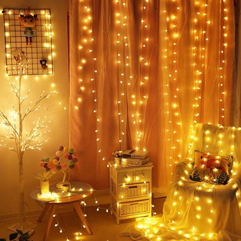 LED Ball Fairy Garland Lights string light USB/Battery Power Waterproof Outdoor Lamp Holiday Wedding Party Decoration