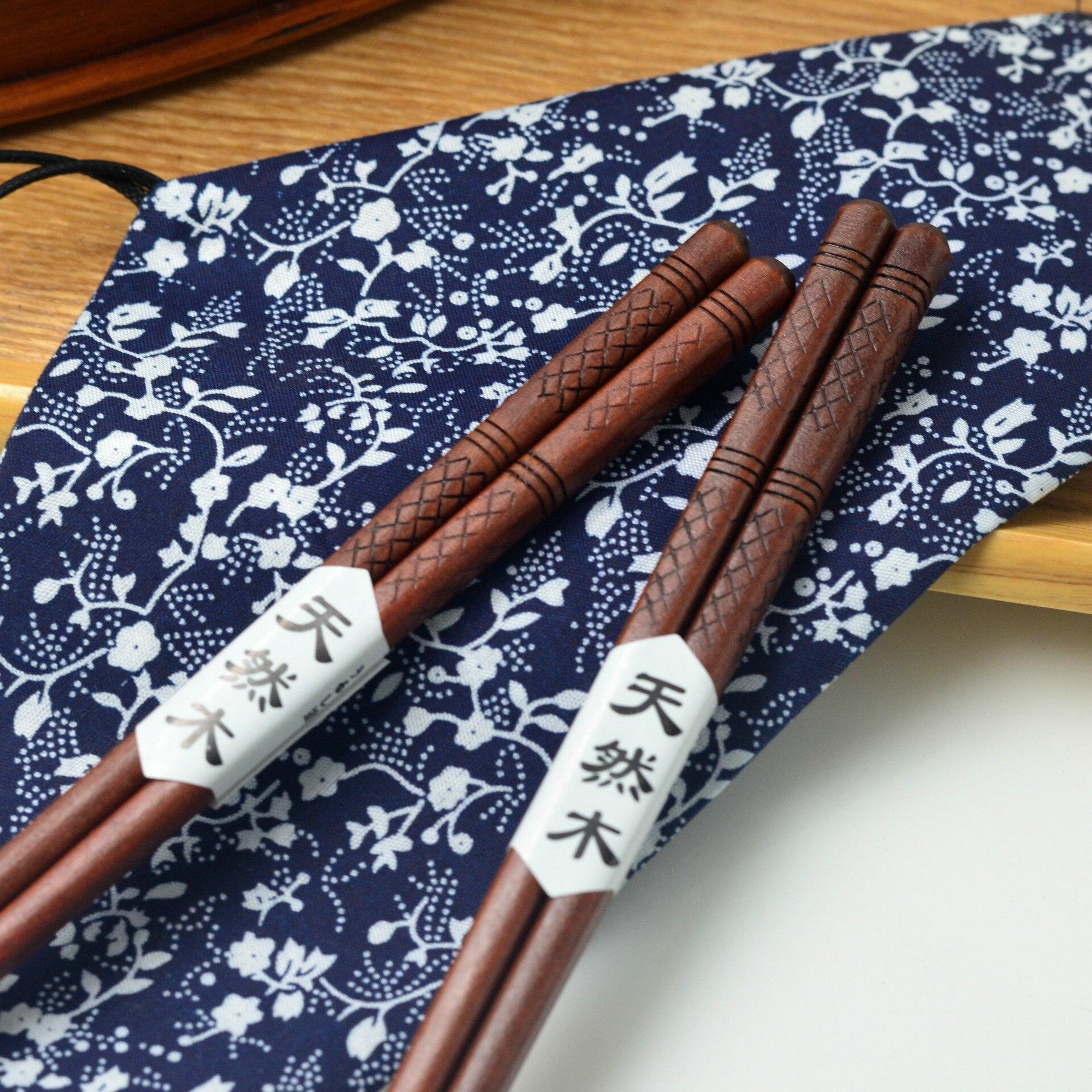 Paletas de madeira feitas à mão japonesas, hashis cabeça plana de madeira charmoso ambiental