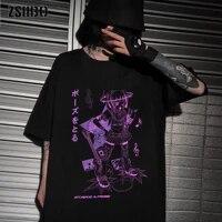 y2k kawaii harajuku anime music girl print black crop women t shirt soft short sleeve top tee female mujer grunge kpop
