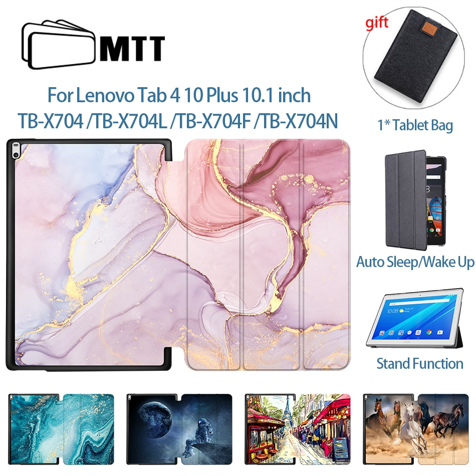 MTT Tablet Case For Lenovo Tab 4 10 Plus TB-X704L TB-X704F TB-X704N 10.1 inch Funda PU Leather Flip Stand Cover Protective Shell