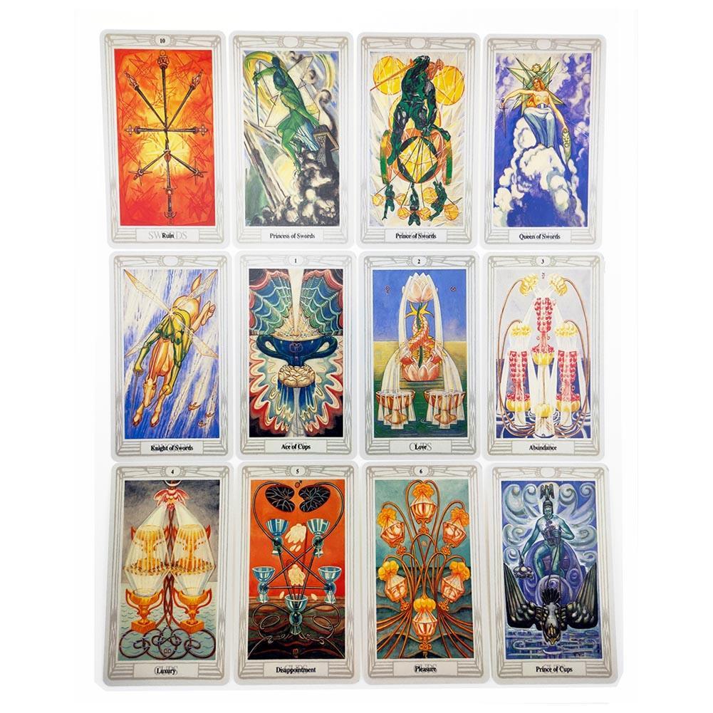 78 pçs thoth tarô baralho cartas de tarô edição inglês misterioso jogo de tabuleiro tarô festa da família cartões jogo