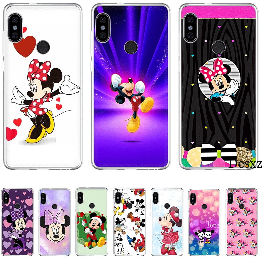 Phone Case For Xiaomi Mi F1 9 9T MAX 3 A3 Pro CC9 CC9E 5 5S 6 Mix 2S 8 A1 A2 5X 6X Lite Hard Cover Mickey Minnie Donald Daisy