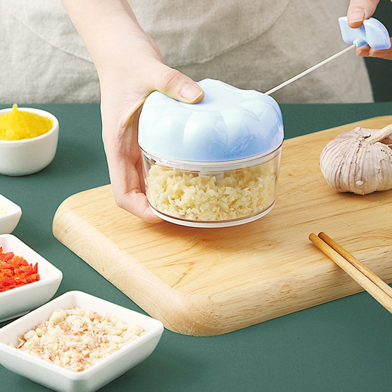 Vegetable Chopper, Manual Cutter, Garlic Cutter, Kitchen Accessories, Fruit Cutter, Meat Cutter, Walnut
