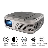Mini projecteur pour telephone Portable DLP  Support 3D Airplay  Android 7 1  Bluetooth 4 0  Home cinema