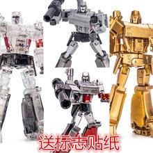 Transformation NA Megatrons Laowei G1 Pocket War Metal Gold Lagoon Golden Crystal Transparent  Model Kid Dolls Toys Figurals