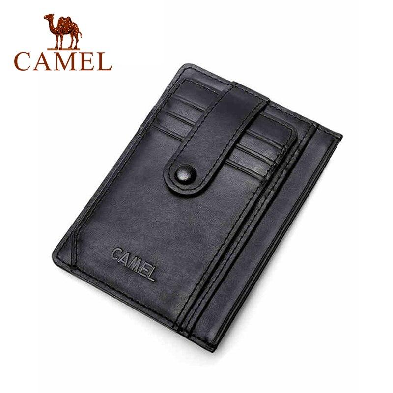 الجمل 2021 جديد خفيفة الوزن فتحات بطاقة صغيرة متعددة مريحة بقرة حافظة بطاقات من الجلد بطاقة البنك تغيير حافظة بطاقات أسود أزرق بني