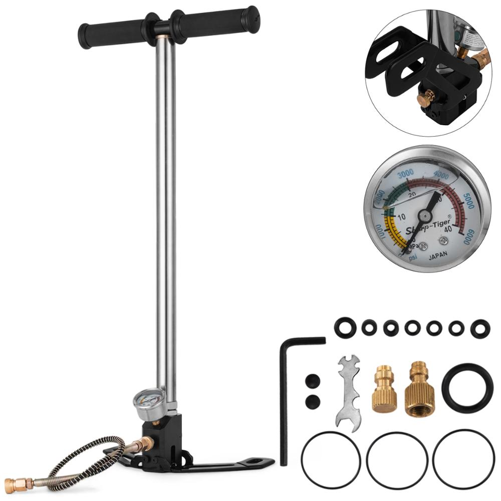 VEVOR Airgun PCP Pump 4500Psi High Pressure Hand Pump 3-Stage Stirrup Pump for Tires and Pre-Charged Pneumatic Airguns