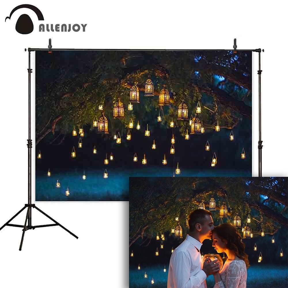 Allenjoy fondo de San Valentín romántico árbol hueco luces paso y repetición Photophone Glitter sesión fotográfica de la boda