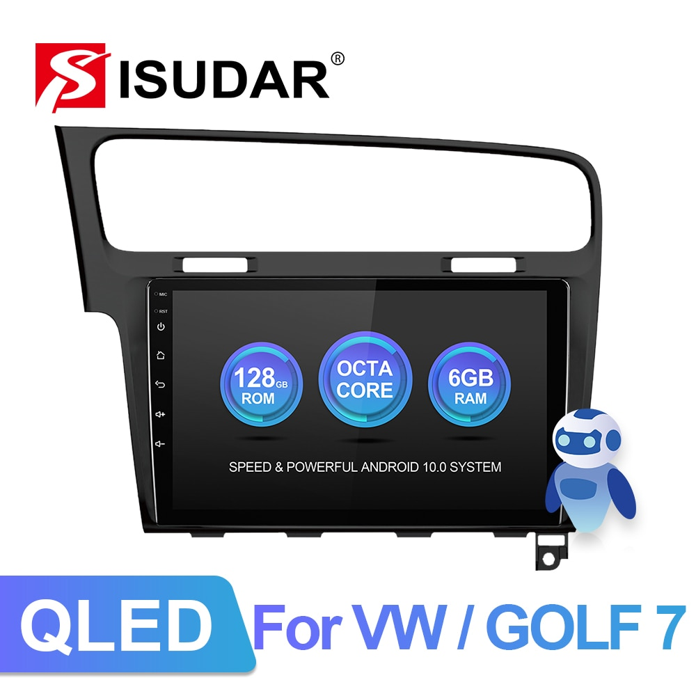 Isudar V72 Automotivo Radio Android 10 For VW/Volkswagen/Golf 7 GPS Car Multimedia Player Octa Core