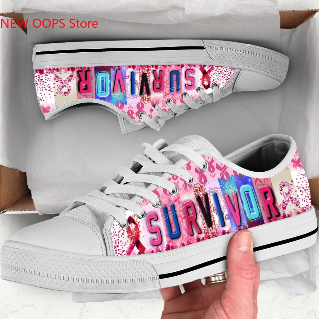 Cancer survivor New Arrive Fashion Lightweight Classic Flat Canvas Shoes Men Women Casual Breathable Sneakers