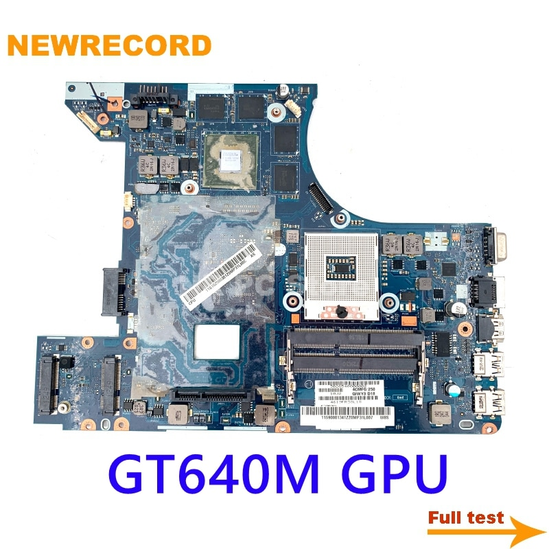 NEWRECORD QIWY3 LA-8001P For Lenovo Y480 Laptop Motherboard GT640M graphics card Main Board full test