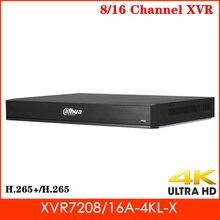 Dahua 8 kanal 16 kanal XVR7208A-4KL-X XVR7216A-4KL-X penta-brid 4K 1U dijital Video kaydedici H.265 akıllı arama kaydedici
