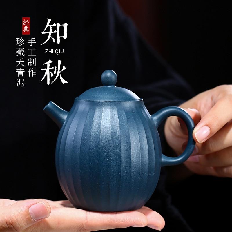 Yixing-إبريق شاي يدوي من الطين الأرجواني ، إبريق شاي Zhiqiu ، شراء عبر الإنترنت
