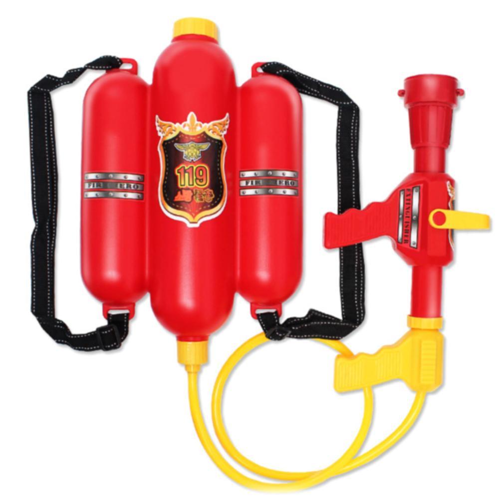 Outdoor Red Props Summer Water Gun Children Plastic Squirter Beach Sprayer Kids Gift Fireman Toy Durable