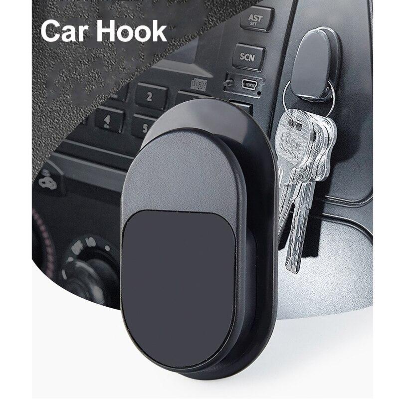 Gancho adhesivo Para coche, colgador de almacenamiento portátil Para Cable USB, Clip...