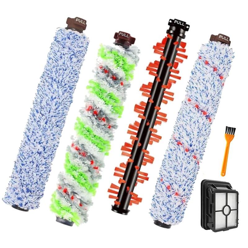 4 قطعة فرشاة الأسطوانة ، 1 مرشحات ، 1 فرشاة التنظيف ، ل bissale CrossWave 1866 1785 2052 1713 2225 مكنسة كهربائية